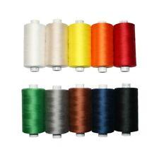 Universal Nähgarn Farben-Mix in 10 Farben 10x1000m 100% Polyester Overlock(0000)