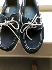 Timberland navy suede boat shoes - Size 10W