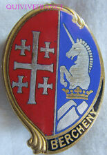IN8979 - INSIGNE 1° Régiment de Hussards Parachutistes, BERCHENY, dos lisse