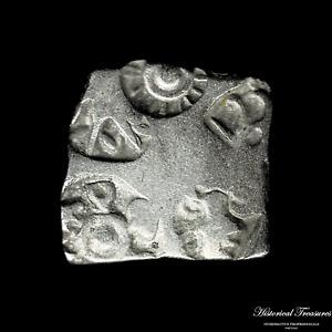 Ancient India Punch-marked Coinage - Karshapana - Weight: 3,36 grams.