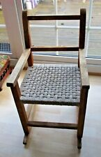 Vintage Retro Child's Wooden Rocking Chair - Great Upcycling Project