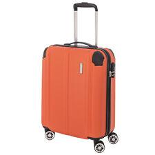 travelite CITY 4w Orange 55cm Trolley Handgepäck Bordtrolley 4-Rad Reisekoffer