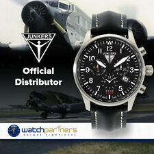 JUNKERS HUGO 6684-2 QUARTZ WATCH with SWISS RONDA MOVEMENT 100m WR BLACK DIAL