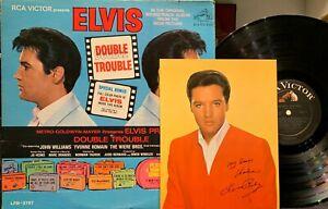"""ELVIS PRESLEY """"DOUBLE TROUBLE"""" LP with BONUS PHOTO, MONO"""