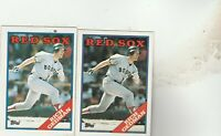 FREE SHIPPING-MINT-1988 Topps #245 Rich Gedman Boston Red Sox -2 CARDS