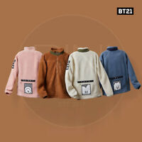 BTS BT21 Official Authentic Goods Fleece Jacket 2Size + Tracking#