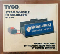 Vtg 1975 TYCO Steam Whistle In Billboard Maxwell House & Payday Ho Kit 934