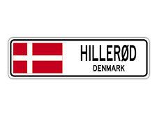 Hillerd Denmark Street Sign Danish Dane Flag City Country Road Wall Gift