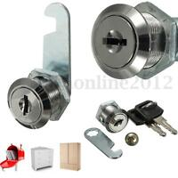 Cam Locks for Cabinet File Mailbox Post Box Drawer Cupboard Locker + Secure Keys