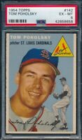 1954 Topps Set Break # 142 Tom Poholsky PSA 6 *OBGcards*
