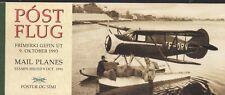 Iceland  1993 Stamp Day Mail Planes Booklet UM