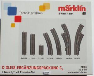 Märklin  24904 H0 Ergänzungspackung C-Gleis-Set C4 #NEU in Originalverpackung#