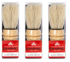 3 x Erasmic Shaving Shave Brush RH010 - New In Pack