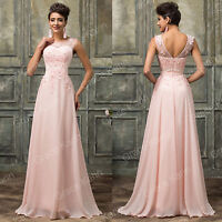 Long Wedding Evening Formal Party Gown Prom Bridesmaid Ball Maxi Dress UK 6-18++