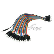 Hot !40PCS Dupont wire jumper cables 20cm 2.54MM male to male 1P-1P For Arduino