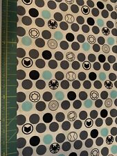 Marvel's Avengers Icons Blue Grey BTHY Cotton Fabric