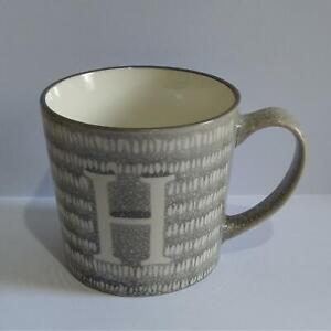 Alphabet Mug - Grey & White Mug from Tesco - Letter H - Please Read