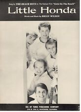 """THE BEACH BOYS """"LITTLE HONDA"""" SHEET MUSIC-1964-EXTREMELY RARE-NEW-MINT CONDITION"""
