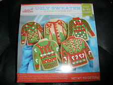 NEW Ugly Sweater Cookie Cutter Kit Sugar Cookies with Decorations HTF