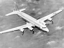 MILITARY AIR PLANE DOUGLAS C-54 SKYMASTER TRANSPORT BLACK WHITE POSTER BB959A