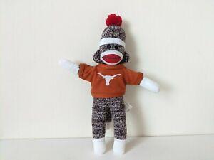 """Pennington Bear - Sock Monkey / Texas Longhorns 11"""" Plush / Soft Toy"""