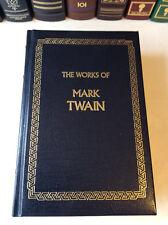 The Works of Mark Twain - leather-bound - Tom Sawyer, Huckleberry Finn, etc