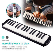 More details for glarry 32 piano keys melodica instrument for music lovers black w/ carrying bag