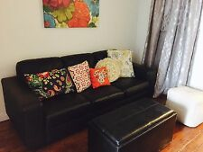 IKEA Black Leather Couch in Great Condition
