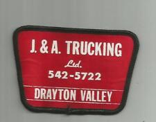 VINTAGE J & A TRUCKING COMPANY TRUCK DRIVER PATCH DRAYTON VALLEY ALBERTA CANADA