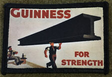 Guinness for Strength Beer Morale Patch Tactical Military Hook Badge Flag USA
