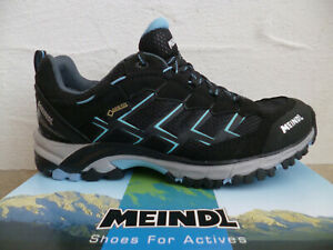 Meindl Women's Sports Shoes Walking Boots Loafers Goretex Black/Blue New