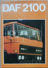 1978 Daf 2100 UK Market Brochure
