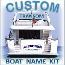 CUSTOM BOAT YACHT TRANSOM NAME 1000mm Cast Vinyl Decal Sticker Graphic Kit