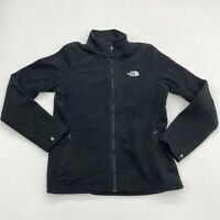 The North Face Fleece Jacket Womens S Black Full Zip Mock Neck Insulated Pockets