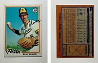 Billy Almon Signed 1978 Topps #392 Card San Diego Padres Auto Autograph