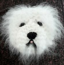 OLD ENGLISH SHEEPDOG KNITTED BROOCH