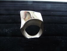 BJORN WECKSTROM VINTAGE LAPPONIA FINLAND MODERNIST 1973 SPACE SERIES RING w/BAG