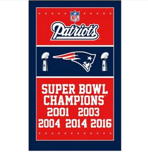 New England Patriots Super Bowl Champion 2017 Flag