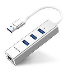 LENTION USB 3.0 Hub Splitter Gigabit Ethernet LAN Adapter for Apple Mac Windows