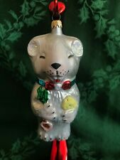 Christopher Radko Ornament Rat With Cheese and Sparkly Ears