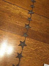 3 Metal Christmas Garlands 9Ft Lg Ea 2Sizes of Stars w/hangers on each end USED