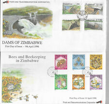 Zimbabwe 1996/8 Dams and Bees First Day Covers