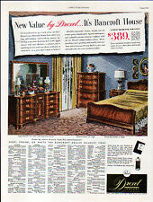 1951 MERCK CORTISONE & DREXEL FURNITURE ADS- BACK TO BACK ADS