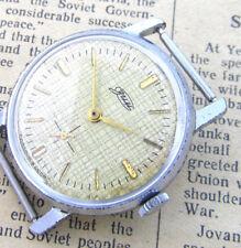 ZIM POBEDA FABRIC CANVAS 1960s USSR Soviet Russian Mechanical Men Wrist Watch