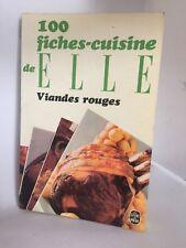 100 FICHES -CUISINE DE ELLE VIANDES-ROUGES  LE LIVRE DE POCHE OCCASION