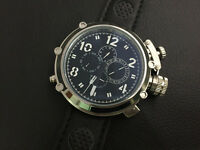 50mm Russian Military Black Dial Automatic Movement Men's Wristwatch Watch