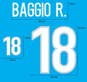 Italy Home World Cup 1998 PU NUMBER FOOTBALL SOCCER PRINT EXCELLENT QUALITY