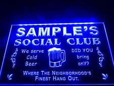 Name Personalized Custom Social Club Home Bar Beer Neon Sign On/ Off Switch