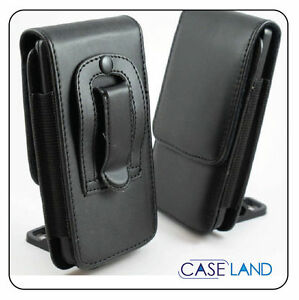 B3- Black Leather Belt Clip Case Pouch Cover Holster For HTC Samsung iPhone Oppo