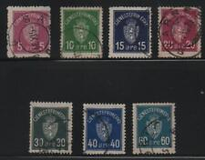 More details for norway stamps 1925 sg 0187-0193 official fine used